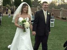Joshua McMinis and Christina Stein during their wedding at The Sutherlands Estate and Gardens in Wake Forest on March 10, 2009. The Triangle area NACE helped sponsor the wedding.