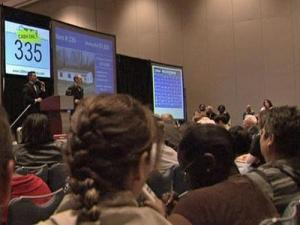 Prospective home buyers looked for bargains Sunday during an auction at the Raleigh Convention Center.
