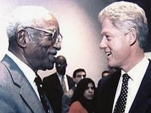 John Hope Franklin with Bill Clinton