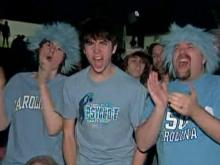 UNC fans celebrate in Chapel Hill, Detroit