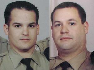 Lenoir County Deputy Allen Pearson, left, died after being shot in the line of duty. Deputy Ryan Dawson was injured.