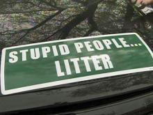 Fayetteville man tries to end litter