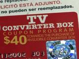 A DTV coupon for a converter box.