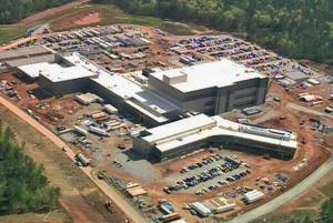 The Novartis plant in Holly Springs was more than halfway completed in late April 2009.