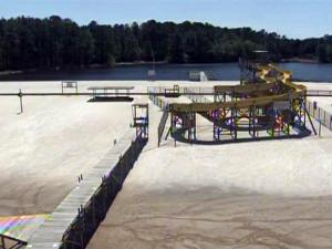 Water will begin filling Fantasy Lake Water Park on Friday, April 24, 2009, three weeks before the park's scheduled May 16 opening.