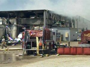 More than 60 fire departments and hundreds of firefighters battled a fire at Southern Produce Distributors in Faison. Roughly 10 million pounds of sweet potatoes were destroyed, the owner said.