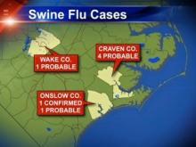 CDC confirms swine flu case in N.C.