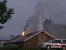 Church fire remains a mystery