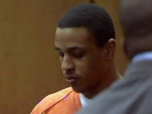 Stephen Lavance Oates, appears in a Durham County courtroom May 11, 2009, for a bond hearing. Oates, 20, is charged with murder in the Jan. 18, 2008, shooting death of Abhijit Mahato.