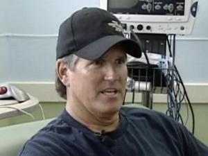 Bill Lucas, 51, a stunt double for Arnold Schwarznegger, has undergone a new type of spine fusion that promises a shorter recovery and less scaring than standard spine fusion surgery.