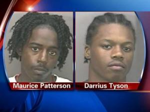 Maurice Patterson and Darrius Tyson were arrested Thursday, May 14, 2009, and charged with breaking into three Orange County homes over the past two months.