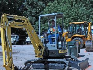 Kenny Wayne Hales won the backhoe and excavating contest. (Photo courtesy of Garner Public Works Department)
