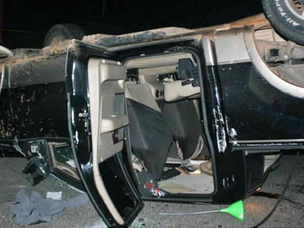 Ian Anthony Bunn, 17, was in critical condition at Rex Hospital after a pickup truck he was riding in overturned on O'Neal Road in front of Leesville High School Friday, May 28, 2009, according to Raleigh police. (Photo by the Raleigh Police Department Crash Reconstruction Unit)