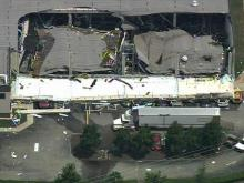 06/09/09: Sky 5 aerials view of Slim Jim plant damage