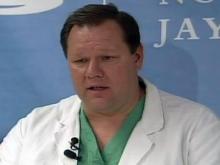 Web only: UNC doctors speak on burn center patients