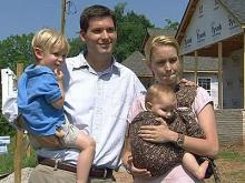 """Josh and Grace Thompson have been looking for more than two years for a home closer to his work. The couple and their two children have reserved a home in State Street Village development. """"We just feel really thankful, because Builders of Hope is not just building houses, they are building a community,"""" Grace Thompson says."""