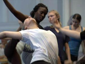 Students practice their craft during a class at the 2009 American Dance Festival.