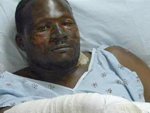 Martez Holland, the lone survivor of an Independence Day fireworks explosion that killed four people, said the blast happened without much warning.