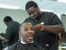 Robert Davis has been getting his hair cut at the Carolina Beauty College, 5106 N. Roxboro St. in Durham, for 15 years.