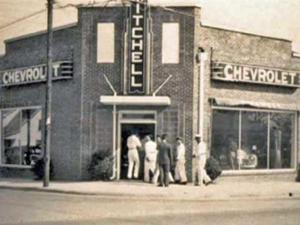 Eric Christofferson is doing an environmentally-friendly renovation the old Mitchell Chrevolet dealership in downtown Fuquay-Varina. When Mack Mitchell opened the building 60 years ago, it was the first Chevrolet dealership in southern Wake County.