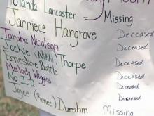 Missing women's loved ones on quest for justice