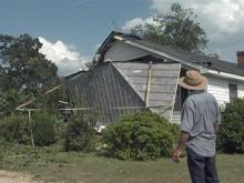 Severe weather damages homes