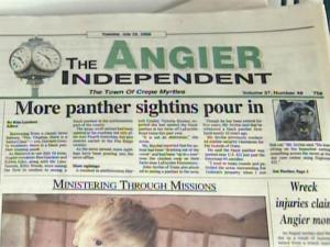 Sightings of a black panther in Harnett County have made local headlines in Angier.