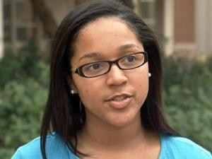 University of North Carolina at Chapel Hill Student Body President Jasmin Jones