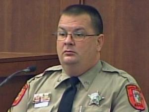 Orange County Deputy London Ivey testifies at Alvaro Castillo's trial on Aug. 4, 2009.