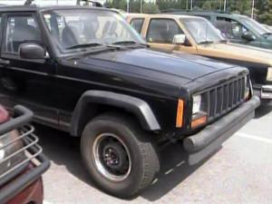 """Old Jeeps and SUVs litter the lot at Rick Hendrick Toyota in Fayetteville, having been traded in under the """"Cash for Clunkers"""" program."""