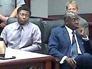 Devin Carmen, left, sits in a Wake County courtroom Tuesday, Sept. 15, 2009, where he pleaded guilty to several charges in four separate cases, including a March 2008 assault on a female jogger at Lake Lynn in Raleigh.