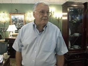 Antique dealer Glen Perry at the Raleigh Flea Market on Sept. 21, 2009.