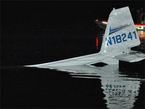 A small plane crashed into the Buckhorn Reservoir in Wilson on Oct. 8, 2009.