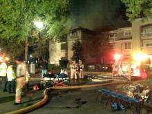 Crews were on the scene of a fire at the Camden Westwood Apartments, 2100 Summitt Ridge Loop in Morrisville, on Oct. 19, 2009.