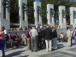 WWII veterans from North Carolina visited the memorial dedicated to their service Tuesday in Washington, D.C.