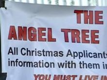 Each year around the holidays the Salvation Army sponsors the Angel Tree program, which collects toys for children in need.
