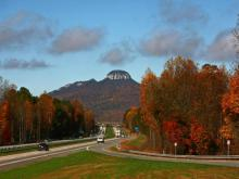 Tour through the North Carolina mountains, from Pilot Mountain west along the Blue Ridge Parkway to Blowing Rock and Grandfather Mountain.