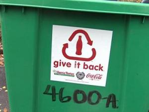 "Residents should place the ""Recycle and Win"" sticker on their green recycling bins in order to take part in the promotion."