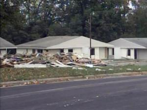 Five rental properties on Boone Street don't meet building codes, so Durham crews demolished the units on Nov. 2, 2009.