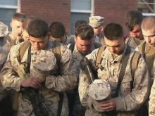 Lejeune Marines ship out for Afghanistan