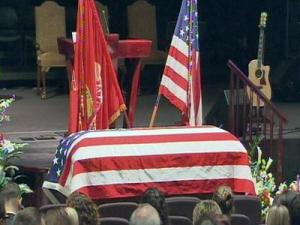"""Funeral services were held for Capt. David """"Seth"""" Mitchell in Cary on Nov. 4, 2009."""