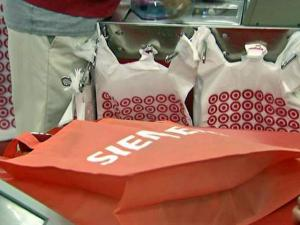 Target has created an incentive for shoppers like Houck: a 5-cent discount for each reusable bag they use to pack their purchases. The program's ultimate goal is to save the environment, said company spokeswoman Army Reilly.