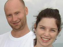 Scott Morris, left, and his wife, Kelly Morris, in an undated photo. The mother of two disappeared from her Stem home on Sept. 3, 2008.