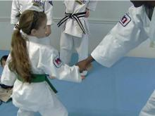Kids learn self-defense at karate studio