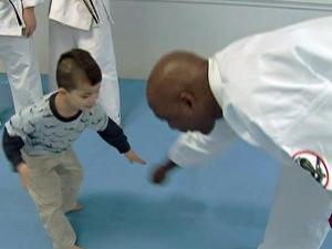 Instructors at Karate International, in North Raleigh, teach children that having confidence and creating a commotion can scare away potential kidnappers.