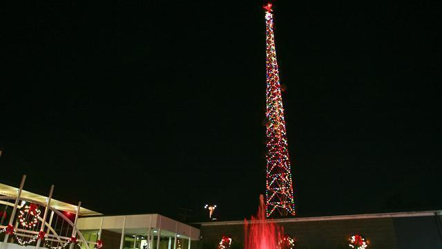 The 50th annual WRAL Tower Lighting took place on Tuesday, Dec. 1, 2009.