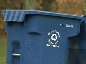 Since issuing the larger bins, Durham is collecting more recyclable material.