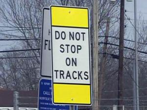 State crews installed a warning sign at a Durham rail crossing on Dec. 11, 2009, two days after two brothers were killed when a train hit their mother's SUV.