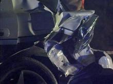 A Wake County sheriff's deputy was pulled over on the side of I-40 East, between Aviation Parkway and Harrison Avenue, around 2 a.m. when a third vehicle slammed into the rear driver's side of his cruiser on Monday, Dec. 14, 2009.