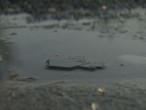 Black ice formed on Lumley Road in Raleigh early Sunday, Dec. 20, 2009.